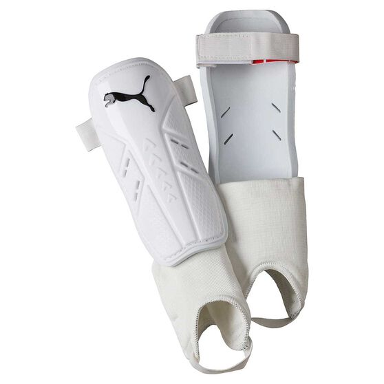 Puma Pro Training Ankle Strap Shin Guards White / Black S, White / Black, rebel_hi-res