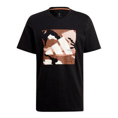 adidas Mens Athletics Graphic Tee Black S, Black, rebel_hi-res