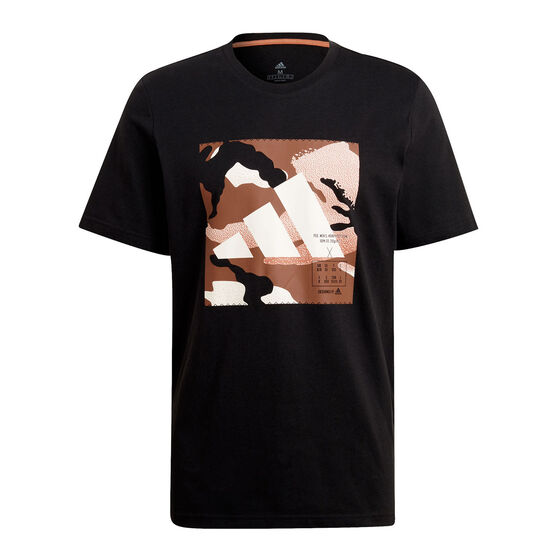adidas Mens Athletics Graphic Tee, Black, rebel_hi-res