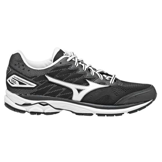 Mizuno Wave Rider 20 Womens Running Shoes Black   White US 6  a02a49522