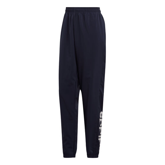adidas Mens Essentials Linear Tapered Stanford Pants, Navy, rebel_hi-res
