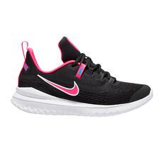 Nike Renew Rival 2 Kids Running Shoes Black / Pink US 4, Black / Pink, rebel_hi-res