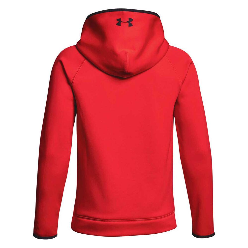 ac277731dddc Under Armour Boys Armour Fleece Big Logo Hoodie Red   Black M ...