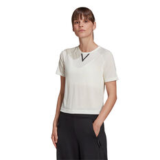 adidas Karlie Kloss Womens Cropped Tee, White, rebel_hi-res