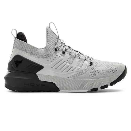 Under Armour Project Rock 3 Mens Training Shoes Grey/Black US 8, Grey/Black, rebel_hi-res