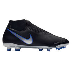 Nike Phantom Vision Academy Dynamic Fit Mens Football Boots Black / Blue US 7, Black / Blue, rebel_hi-res