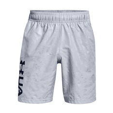 Under Armour Mens Woven Embossed Shorts Grey XS, , rebel_hi-res
