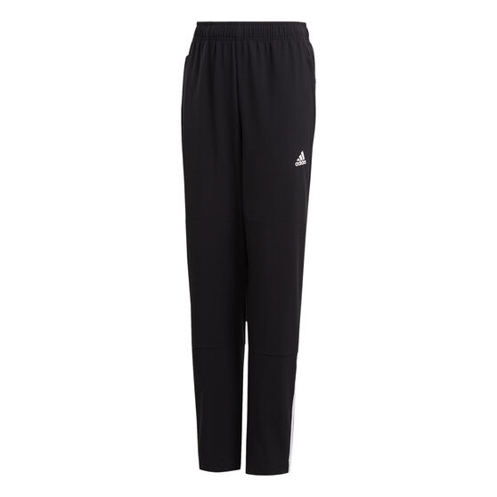 adidas Boys Equipment Pants, Black/White, rebel_hi-res