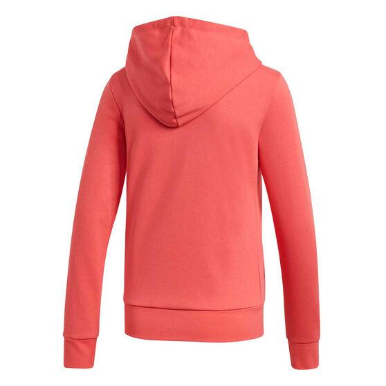 adidas Womens Essentials Linear Full Zip Hoodie, Pink, rebel_hi-res