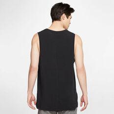 Nike Mens Dri FIT Yoga Tank, Black, rebel_hi-res