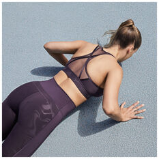 adidas Womens Believe This Glam On Tights, Purple, rebel_hi-res
