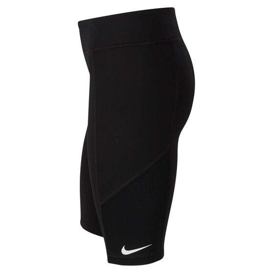 Nike Girls Trophy Bike Shorts, Black / White, rebel_hi-res
