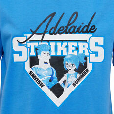 Adelaide Strikers 2019/20 Kids Mascot Tee Blue 8, Blue, rebel_hi-res