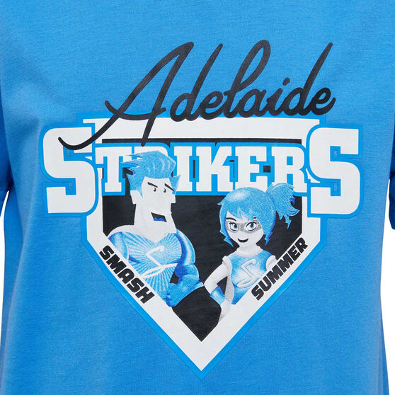 Adelaide Strikers 2019/20 Kids Mascot Tee, Blue, rebel_hi-res