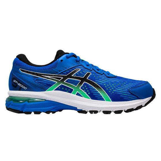 Asics GT 2000 8 Kids Running Shoes, Blue / Green, rebel_hi-res