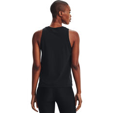 Under Armour Womens Graphic Muscle Tank Black XS, Black, rebel_hi-res