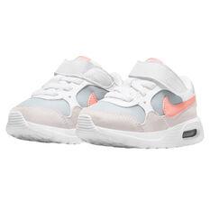 Nike Air Max SC Toddlers Shoes, White/Peach, rebel_hi-res