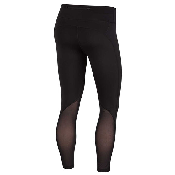 Nike Womens 7/8 Running Crop Tights Black XS, Black, rebel_hi-res