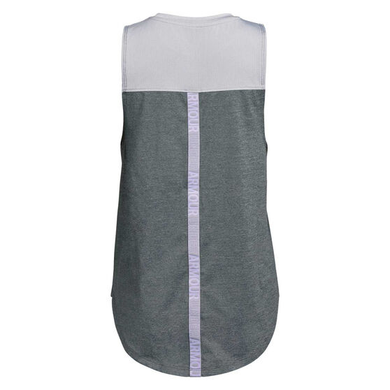 Under Armour Girls HeatGear Armour Tank Top, Grey / White, rebel_hi-res