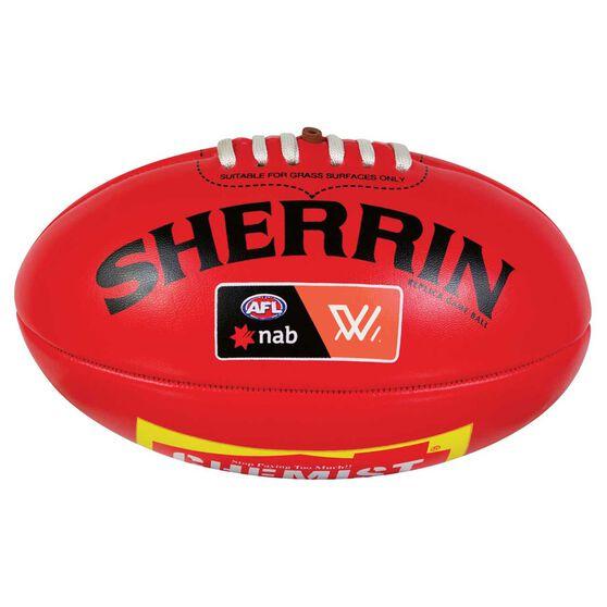 Sherrin AFL Mini Replica Game Ball Red 3, , rebel_hi-res
