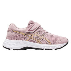 Asics GEL Contend 6 Kids Running Shoes Pink / Gold US 11, Pink / Gold, rebel_hi-res