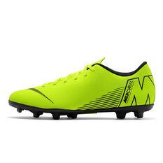 Nike Mercurial Vapor XII Club MG Mens Football Boots Volt / Black US 7, Volt / Black, rebel_hi-res