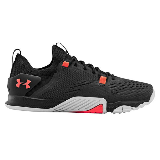 Under Armour Tribase Reign 2.0 Womens Training Shoes, Grey / Red, rebel_hi-res