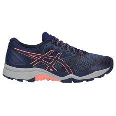 Asics GEL Fuji Trabuco 6 Womens Trail Running Shoes Navy / Pink US 6, Navy / Pink, rebel_hi-res