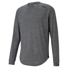Puma Mens Cloudspun Long Sleeve Training Tee, Grey, rebel_hi-res