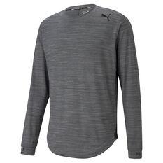 Puma Mens Cloudspun Long Sleeve Training Tee Grey XS, Grey, rebel_hi-res