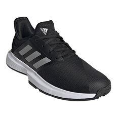 adidas GameCourt Mens Tennis Shoes, Black, rebel_hi-res