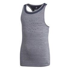 adidas Girls Dotty Tennis Tank Grey 8, Grey, rebel_hi-res