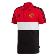 Manchester United 2019/20 Mens Polo Red / Black S, Red / Black, rebel_hi-res