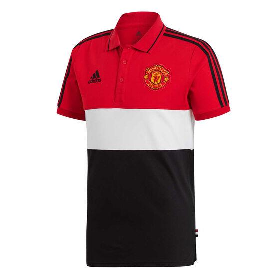 Manchester United 2019/20 Mens Polo, Red / Black, rebel_hi-res