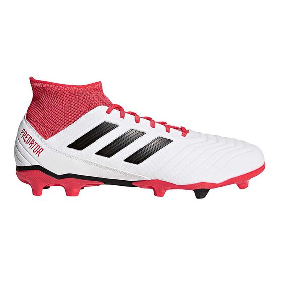 adidas Predator 18.3 FG Mens Football Boots, White / Black, rebel_hi-res