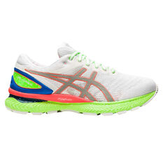 Asics GEL Nimbus 22 Lite Show Mens Running Shoes White/Red US 8.5, White/Red, rebel_hi-res