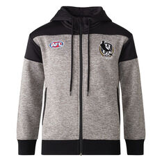 Collingwood Magpies 2021 Mens Ultra Hoodie Grey S, Grey, rebel_hi-res