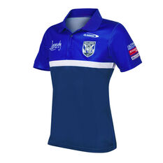 Canterbury-Bankstown Bulldogs 2021 Mens Media Polo Blue S Blue, Blue, rebel_hi-res