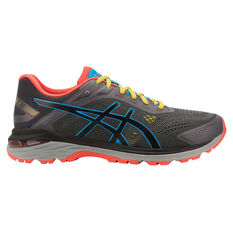 Asics GT 2000 7 Trail 2E Mens Trail Running Shoes Grey / Black US 7, Grey / Black, rebel_hi-res