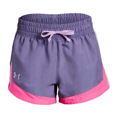 Under Armour Girls Sprint Shorts Purple / Pink XS, Purple / Pink, rebel_hi-res