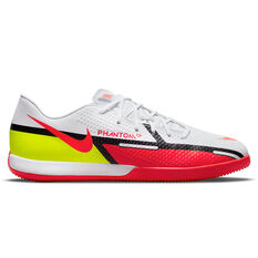 Nike Phantom GT2 Academy Indoor Soccer Shoes White/Red US Mens 7 / Womens 8.5, White/Red, rebel_hi-res