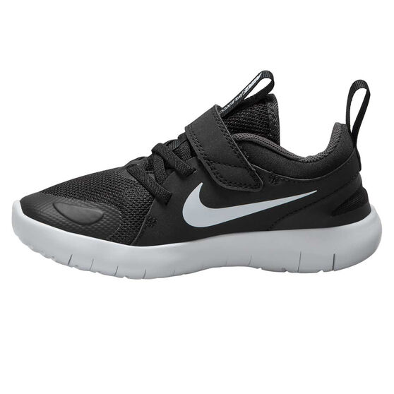 Nike Flex Contact 4 Kids Running Shoes, Black/White, rebel_hi-res