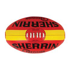 Sherrin Precision Football Red / Yellow 4, , rebel_hi-res