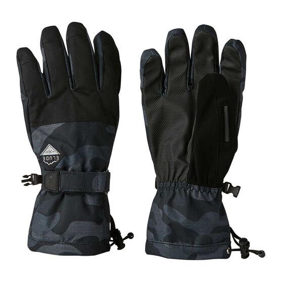Elude Mens Maximise Ski Gloves, Black / Camo, rebel_hi-res