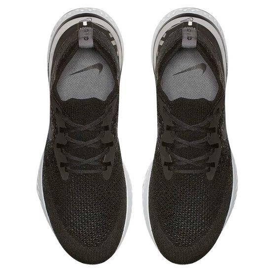 Nike Epic React Flyknit Mens Running Shoes Black / White US 8, Black / White, rebel_hi-res
