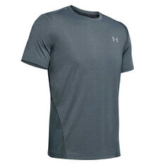 Under Armour Mens Streaker Short Sleeve Tee Grey S, Grey, rebel_hi-res