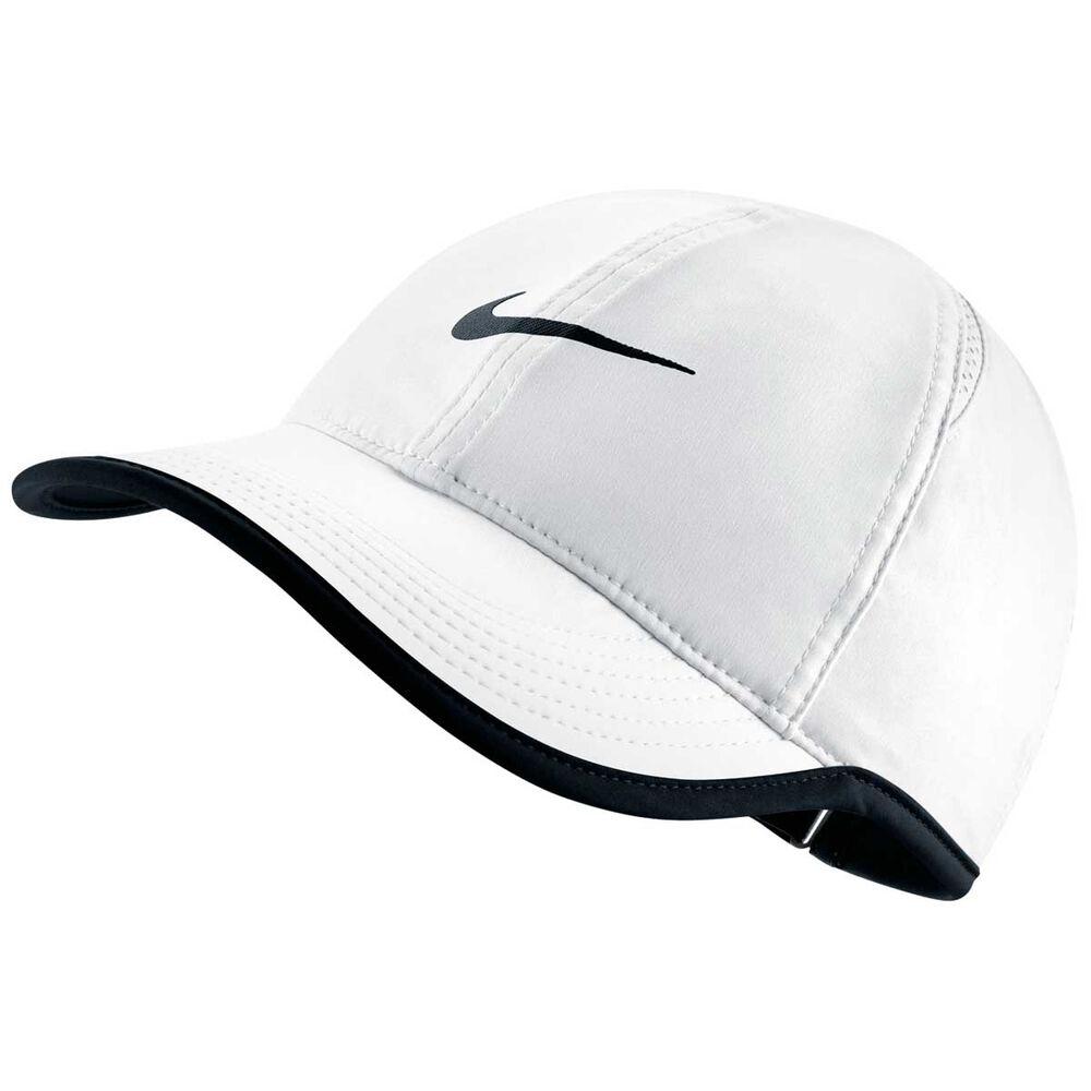 Nike Womens Featherlight Cap White   Black OSFA  9846d0e8384