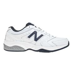 New Balance 624 Mens Crossing Training Shoes White / Navy US 7, White / Navy, rebel_hi-res
