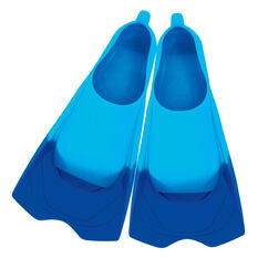 Zoggs Ultra Silicone Fins Blue US 3 - 4, , rebel_hi-res