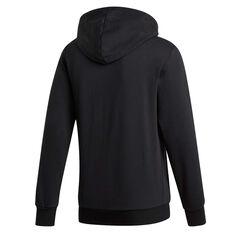 adidas Mens Essentials 3-Stripes Full Zip Fleece Hoodie, Black, rebel_hi-res